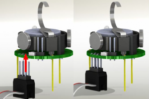Connect the ICSP programming cable to the robot. Image source: https://www.kilobotics.com/documentation